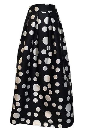 66ea561d0d Harwinner Women Color Block Print High Waist Pleated Skater Midi Skirt  Skirts: Amazon.in: Clothing & Accessories