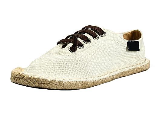 Insun Unisex Alpargatas de Cordones Zapatos Moda Suela Cuerda de Yute