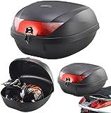 Tekbox Universal 52L Motorcycle 2 Helmet Top Box Luggage Storage For Motorbike Moped Back Rear Box