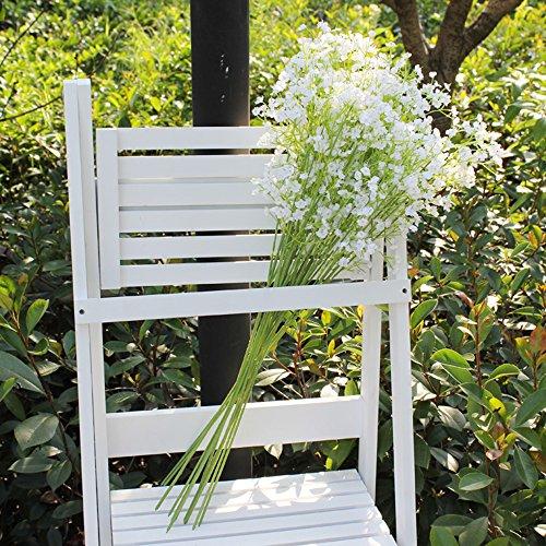 MyLifeUNIT Artificial Silk Flowers Baby Breath Bouquet for Home Wedding Party Decor 10 Pcs/Set