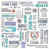 "Medical Paper 12""X12""-Nurse Collage  25 per pack"