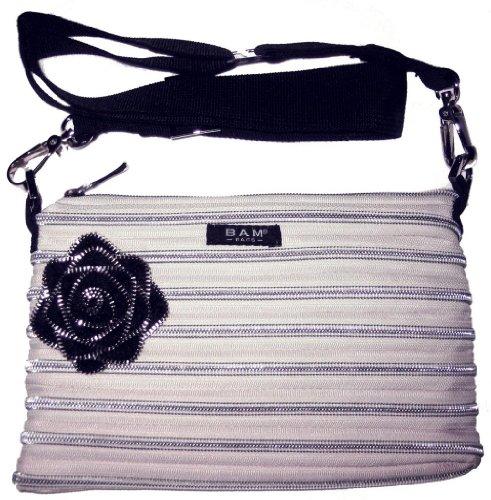 BAM Bags Women's Flower Bag Nylon Sand & Silver One Size (Bags Bam Handbag)