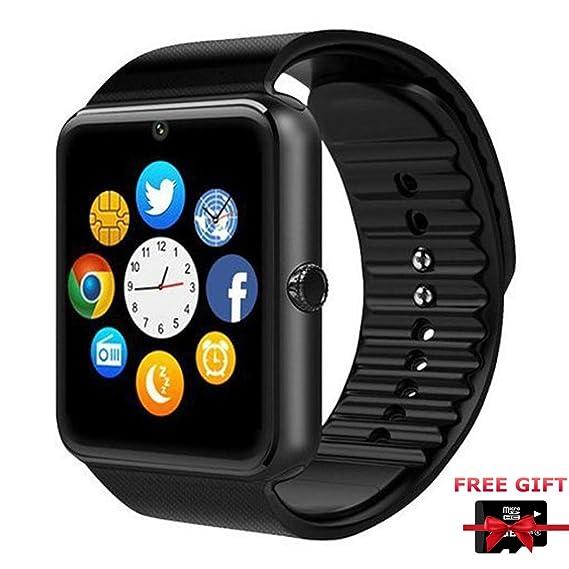 Smart Watch, Reloj Inteligente Bluetooth con cámara/podómetro analógico/Seguimiento de sueño para