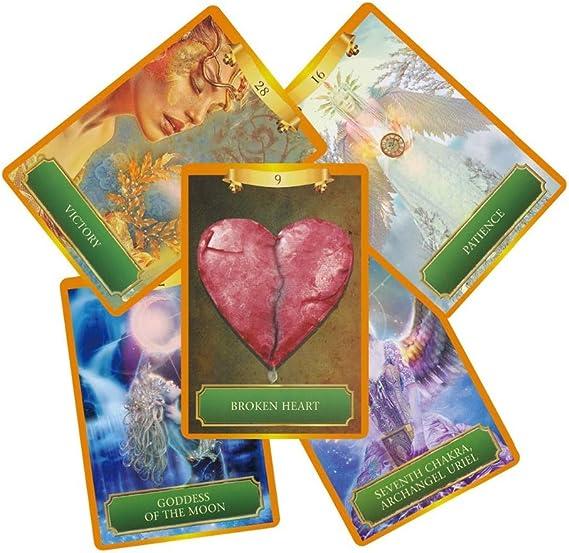Tarjetas completas de oráculo de potencia inglesa, 53 tarjetas, misteriosa energía divinación destino tarot juego de cartas juego de cartas Archangel Oracle Cards: Amazon.es: Oficina y papelería