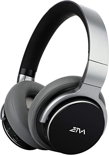 Bluetooth Headphones Active Noise Cancelling Headphones Wireless Headphones 25H Play time with Microphone, Ztva Over-Ear Headphones for Travel, Work, PC and TV-Black