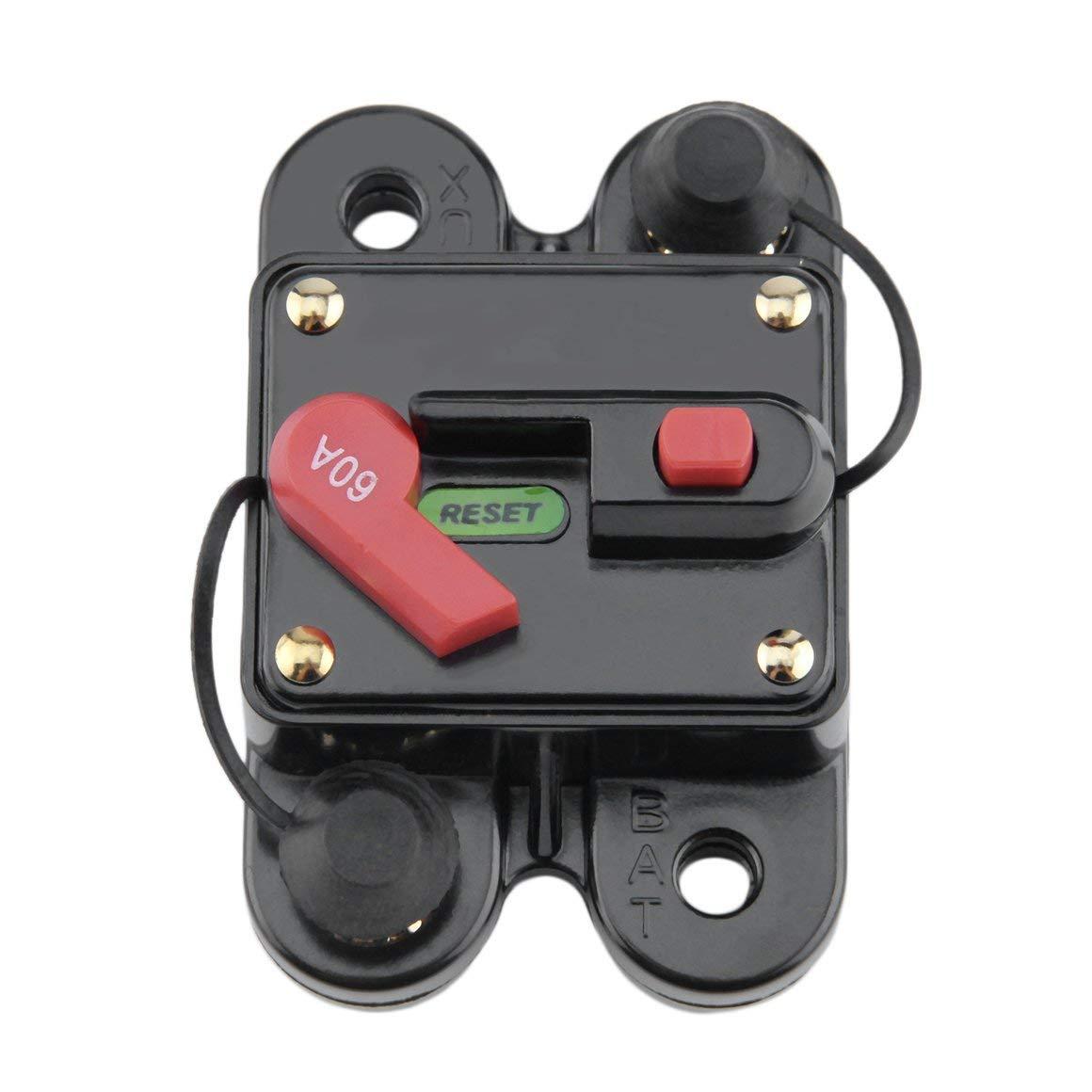 Funnyrunstore 50A 60A 80A 100A 125A 150A 200A 250A opcional Fusible del disyuntor en lí nea del audio del coche para 12V protecció n SKCB-01-100A (Estilo: 125A)