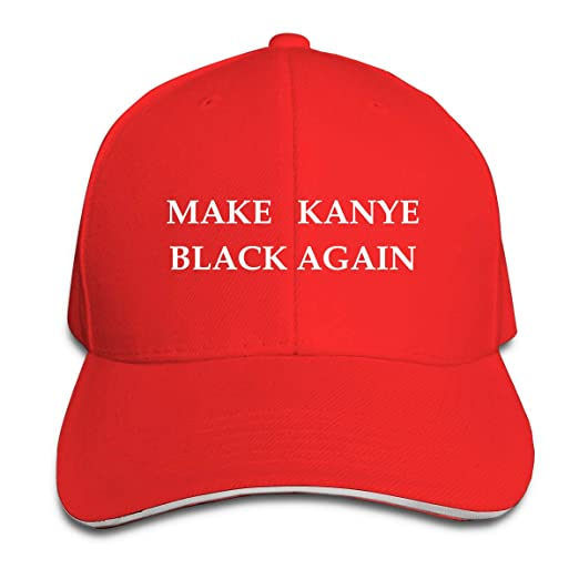 Adult Vintage Make Kanye Black Again MAGA Snapback Hat Dad Hat Black  Sandwich Peaked Cap Red at Amazon Men s Clothing store  3012f5741d7