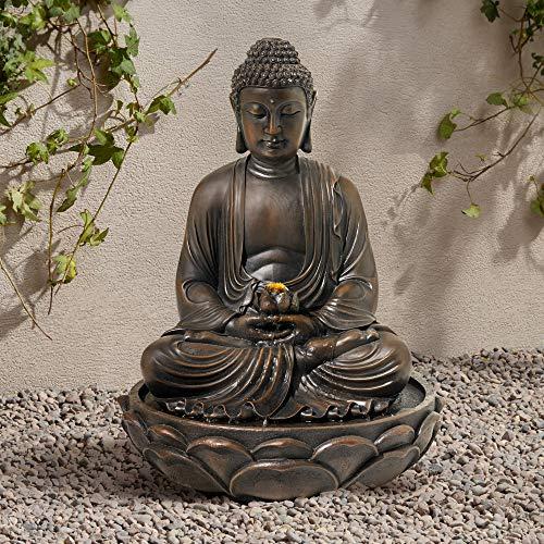 - John Timberland Meditating Bronze Seated 27 1/2