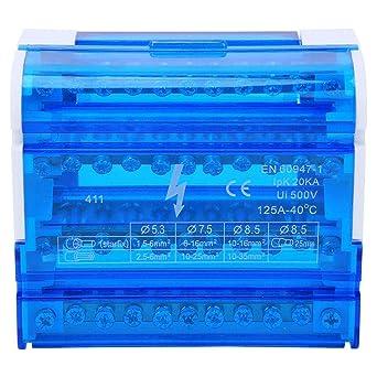 Caja de distribución de terminales Regleta de bornes Caja de conexiones Carril 4 niveles Monofásico para ingeniería eléctrica: Amazon.es: Industria, empresas y ciencia
