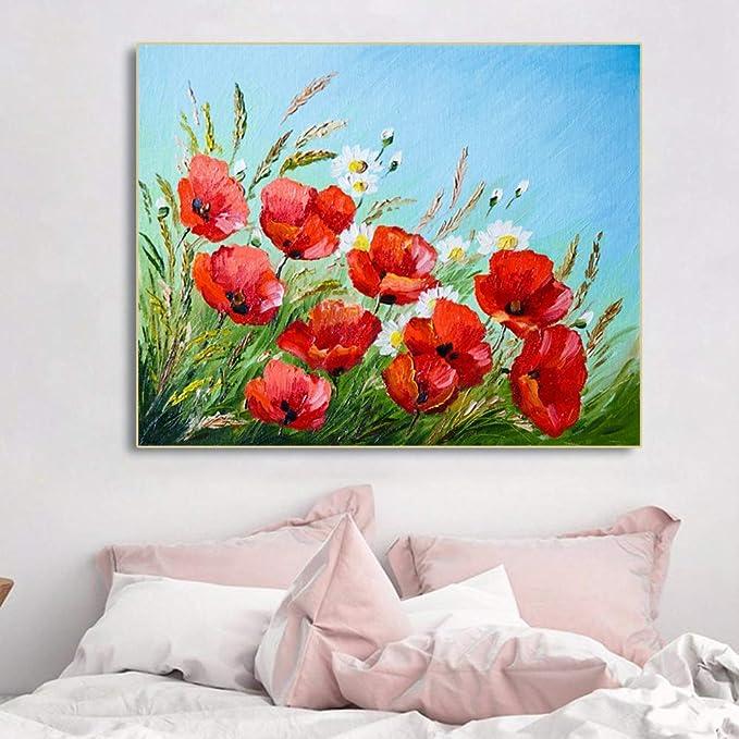 NIMCG Flor floreciente Lienzo Pintura Carteles e Impresiones ...