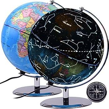 amazon com qwork 9 inch constellation word globe for kids 3 in 1