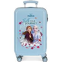 Disney Frozen Trust your journey Maleta de cabina Azul 37x55x20 cms Rígida ABS Cierre combinación 32L 2,5Kgs 4 ruedas…