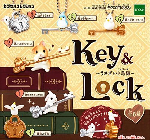 [해외]Key 및 Lock 토끼와 새 편 [총 6 종 세트 (완전 광고 / Key & Lock Rabbit and Small Bird Hen [All 6 Sets (Full Comp