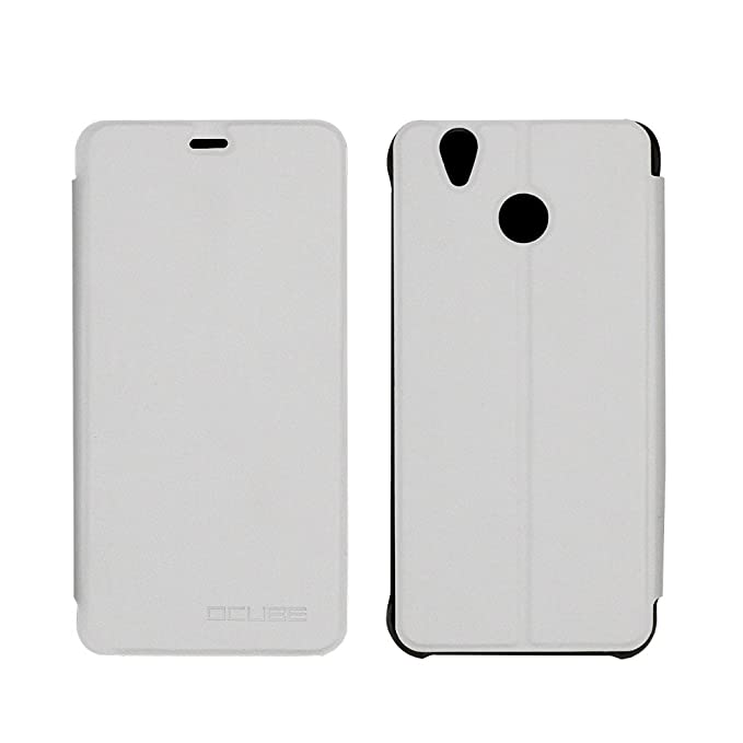 Prevoa ® 丨 Flip PU Funda Case Protictive para OUKITEL U7 Plus MTK6737 Android 6.0 Smartphone - Blanco
