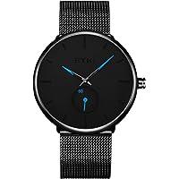 Alienwork Armbanduhr für Herren Damen Analog Quarz Uhr Kleine Sekundenanzeige