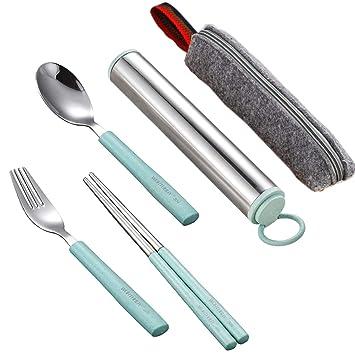 Amazon.com: Juego de Set de cubiertos, kework tenedor ...