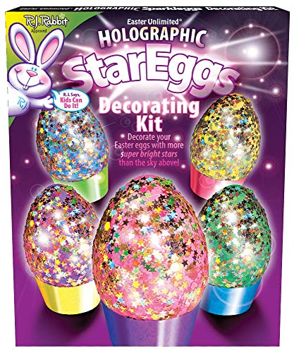 Easter Unlimited Holographic Star Egg Coloring Kit