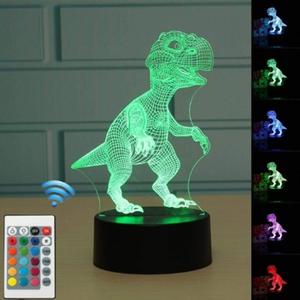 melysUS 3D Dinosaur Multicolor Changing Remote Control and Touch LED Night Light (Remote Control) by melysUS