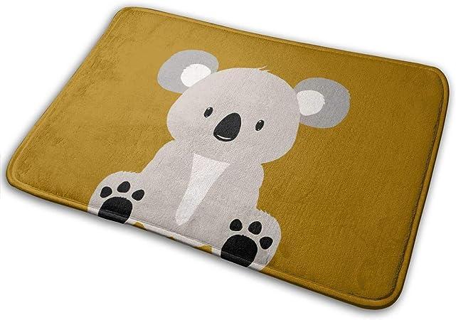 Flimy Na Cute Koala Bear Felpudo Antideslizante Casa Puerta de jardín Alfombra Alfombra Puerta Alfombrillas de Piso: Amazon.es: Hogar