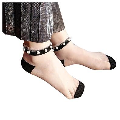 Women Fishnet Socks Inkach Stylish Girls Summer Glitter Soft Lace Fishnet Mesh Ankle Short Socks Stockings Met