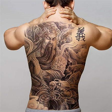 tzxdbh 2 Unids-Big Black Tiger Tatuajes Hombres Lobo Dragón ...
