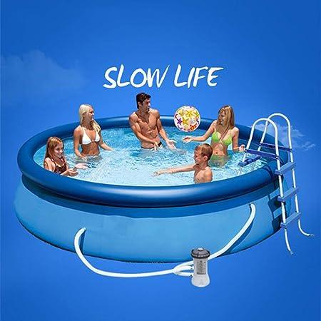 Pool Toy Redonda Grande Piscina Piscina Inflable Es Fácil De Montar Blue-244 * 76cm: Amazon.es: Hogar