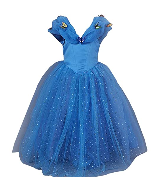 e8b91468e Amazon.com  sophiashopping New Blue Cinderella Princess Dress ...