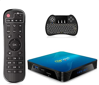 Android 10.0 TV Box, QPLOVE Q8 Android TV Box【4GB 128GB】 RK3318 Quad Core 64Bits 2.4G/5G WiFi BT 4.0 3D 4K Smart TV Box con Mini Wireless Backlight Keyboard: Amazon.es: Electrónica