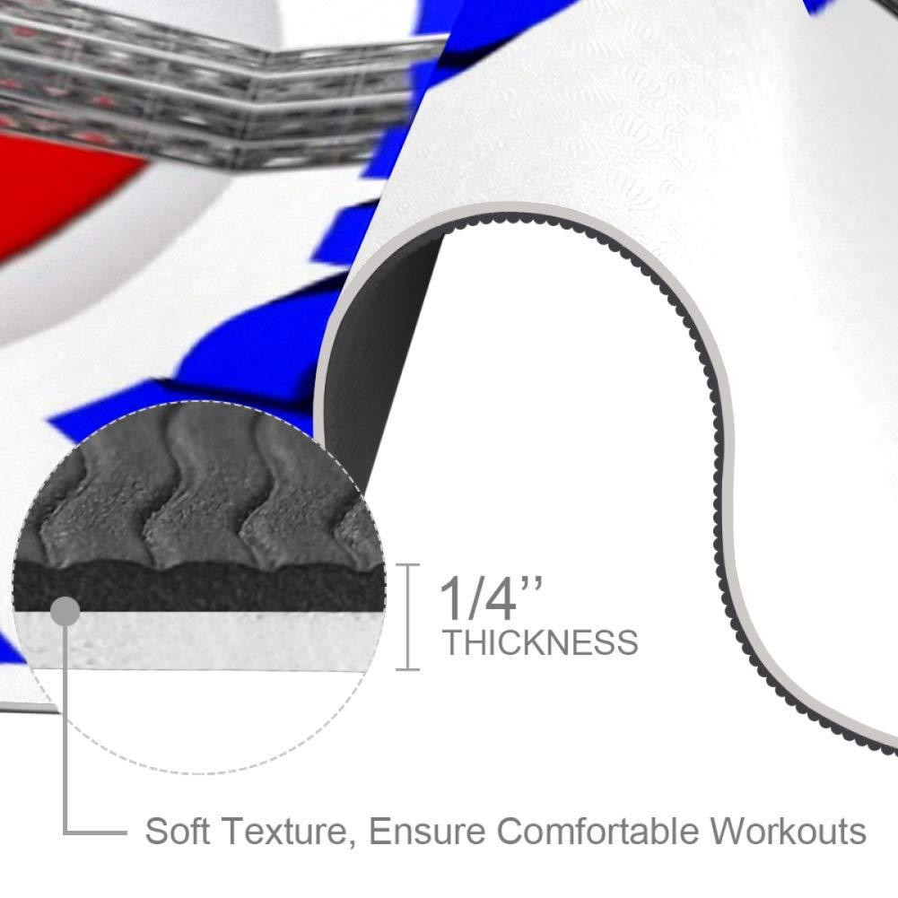 Indimization Poisson Fond Noir Tapis de Yoga Pilates de Gymnastique acrobatique Sports Tapis antid/érapant Odeur Non Toxique de Remise en Forme pour Femmes et Filles