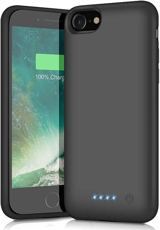 Coque de batterie pour iPhone 6/6S/7/8, mise à niveau [6000mAh] - Batterie rechargeable prolongée pour Apple iPhone 6/6S/7/8 (4.7