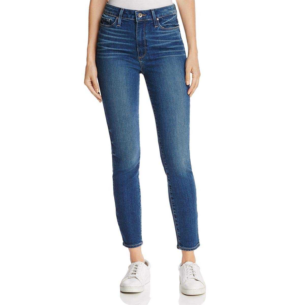 Paige Womens Margot HighRise Medium Wash Ankle Jeans bluee 25