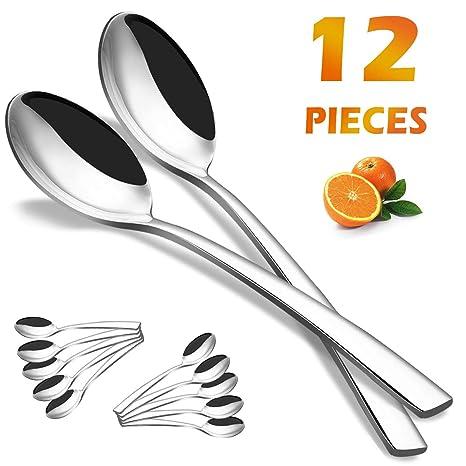 Amazon.com: Cucharas de cena, Elegant Life, 12 piezas, acero ...