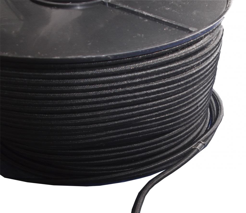 8mm x 20M GREY ELASTIC BUNGEE SHOCK CORD//ROPE TIE