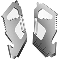 3PCS Mini Carabiner Combo Multitool - Wrench,Screwdriver,Pulley,Bottle Opener,Keychain - Minimalist Rope Clip Hook Gadgets,Outdoor Survival Tactical Pocket Tool for Climbing,Camping,Hiking,Travel