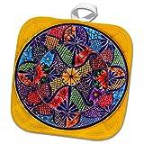 3dRose Danita Delimont - Artwork - Colorful Ceramic Mexican Plate, Guanajuato, Mexico - 8x8 Potholder (phl_278312_1)