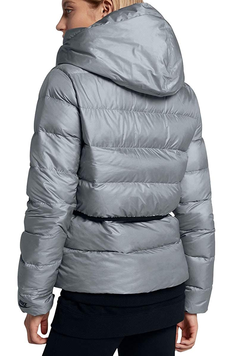 e86b5a37b958 Nike Women s Sportswear Puffer Down Jacket Black Cool Grey 854767 065   Amazon.co.uk  Clothing