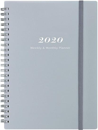 Agenda 2020/Planificador académico - Planificador Semanal y Mensual con Pestañas, Cierre Elástico y Papel Grueso, Bolsillo Trasero con 21 Páginas de ...