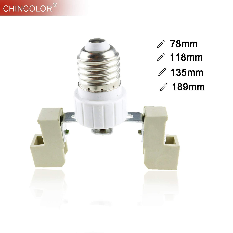 Convertisseur AiCheaX Adaptateur Support de lampe Prise E27 /à R7 78mm 118mm 135mm 189mm Vis de base E27 /à R7s Convertisseurs ampoule Long Life JQ Couleur: 189mm