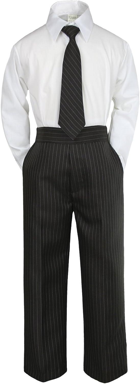 Unotux Formal Wedding Party Boys Vest Sets Dark Brown Pinstripe Suits Baby Teen