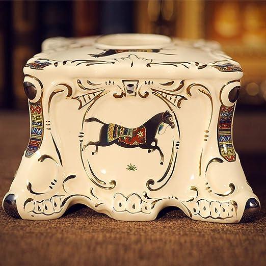 WeiLuShop Caja de pañuelos/Bandeja Caja de servilletas de casa Caja de casa de Papel de cerámica: Amazon.es: Hogar