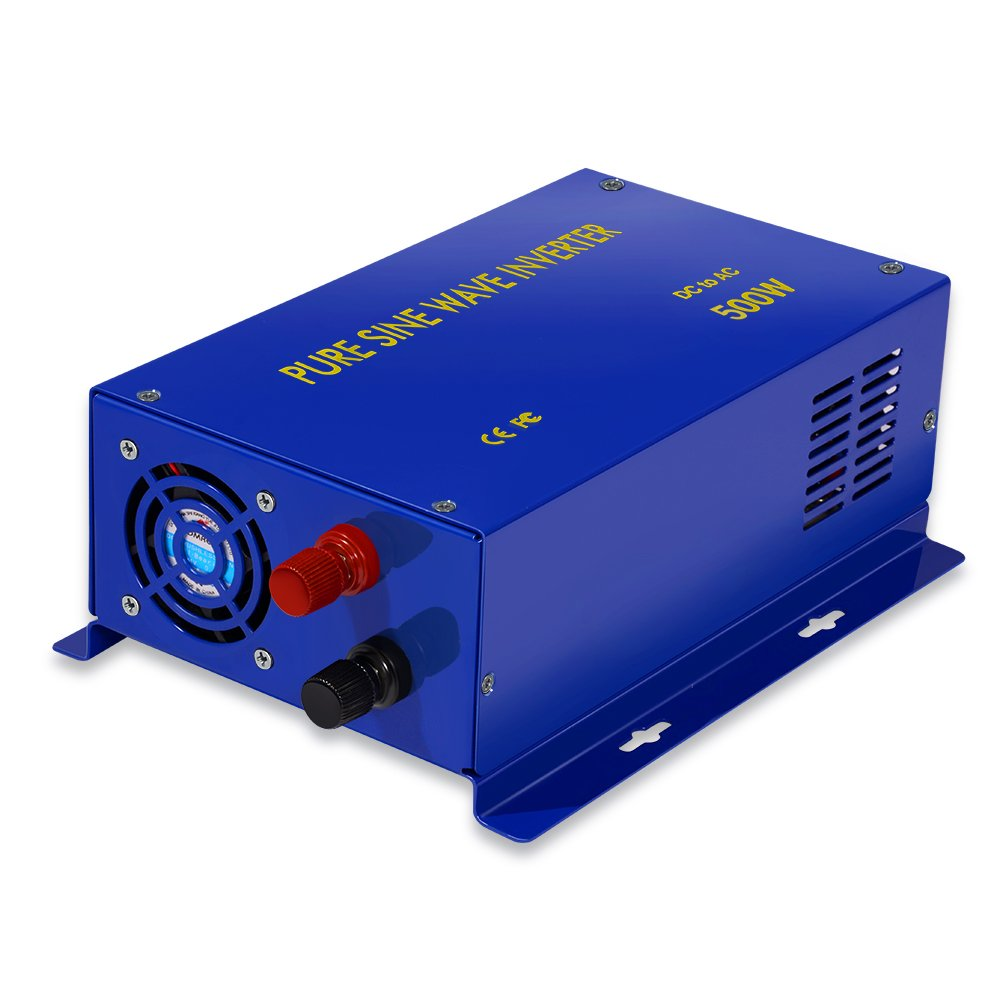 Full Power Led Display 500w Rated Power 1000W Surge Power 24v to 120v Pure Sine Wave Power Inverter by Generic (Image #2)