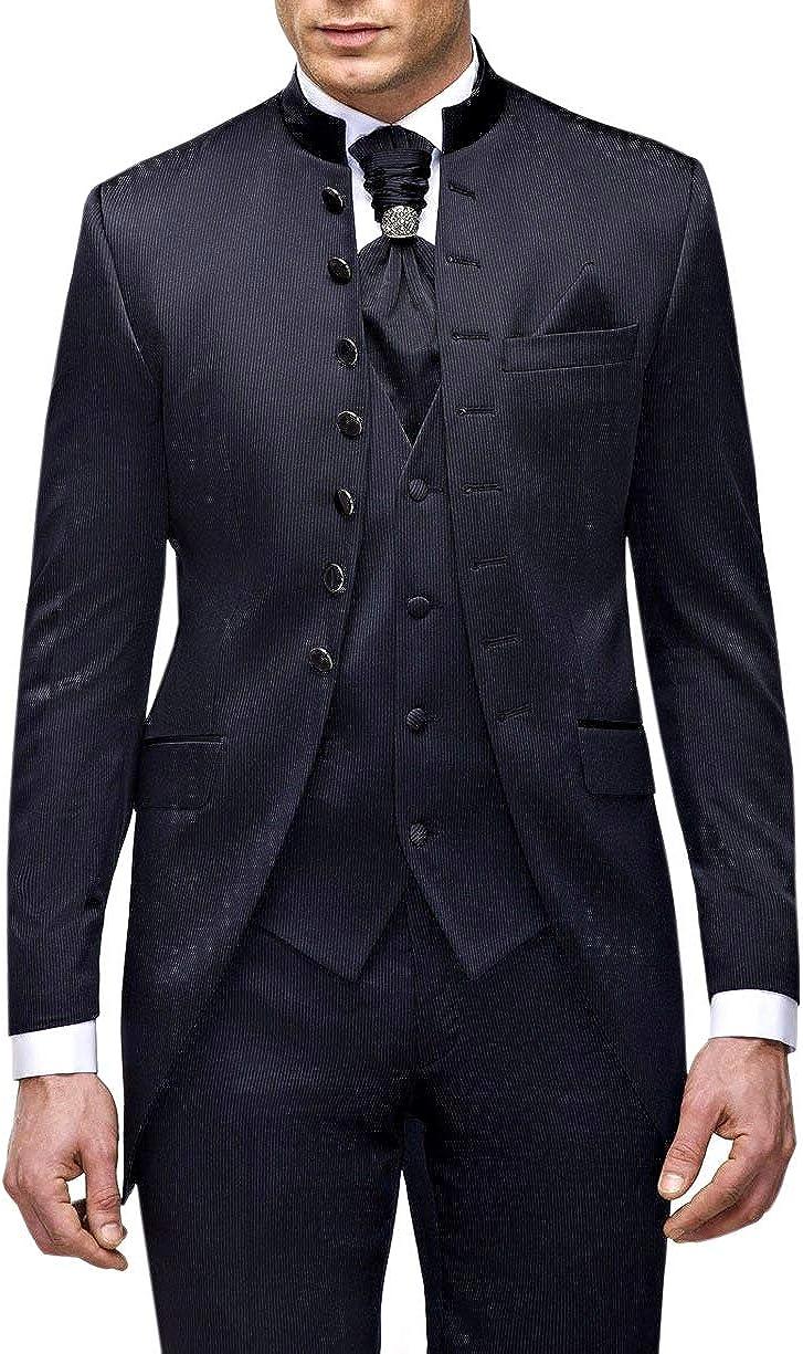 Falda para hombre con cuello Mao. azul oscuro 46: Amazon.es: Ropa ...