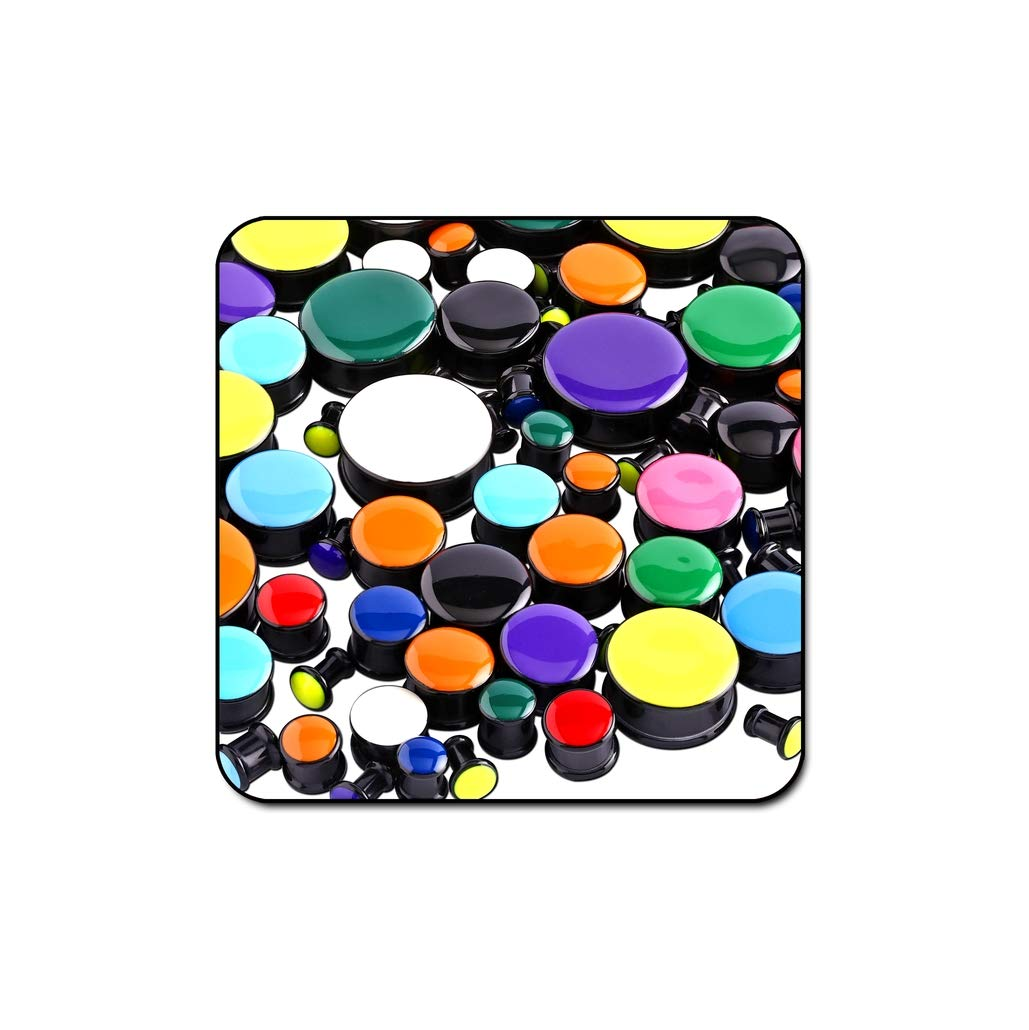 Bubble Body Piercing Value Pack of Uv Acrylic Enamel Plugs - Pack of 250 Pcs