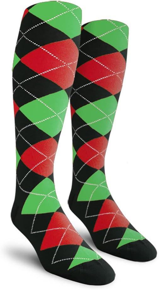 Argyle Golf Socks: Over-The-Calf (A-Z)