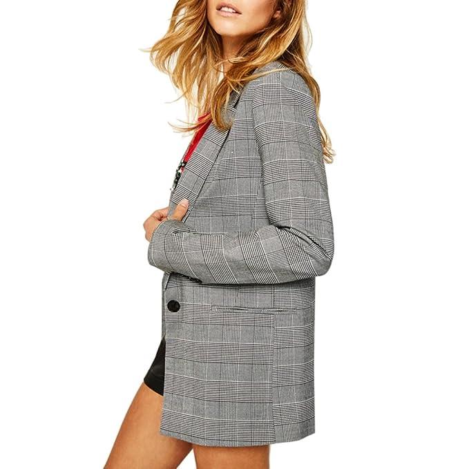 Amazon.com: SEBOWEL - Chaqueta para mujer, estilo casual ...