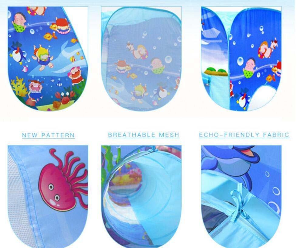 Faltendes Spielzeugzelt Kinderzelt Tunnel Indoor Spielhaus dreiteilige Set Outdoor Kombination Outdoor Set Castle Geschenk bevorzugt fc2655