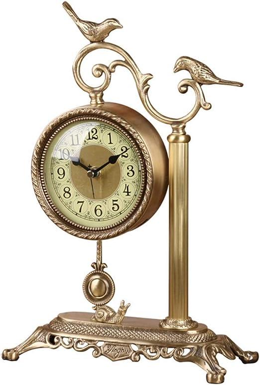 JBP max Reloj de jardín Soporte Reloj Sala de Estar cabecera Reloj silencioso Dormitorio Reloj de cuarzo-JBP13: Amazon.es: Hogar