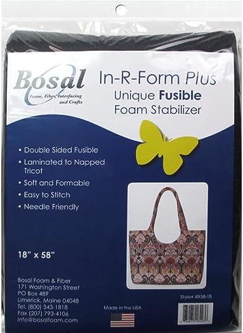 BOSAL BSL493B-36  IN R FORM PLUS FUSIBLE DBL SIDE 36X58 BLK