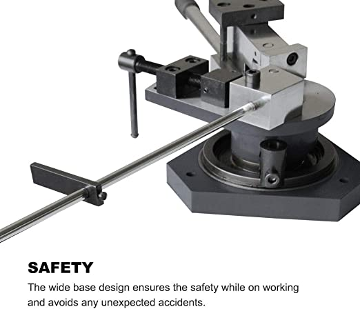 VEVOR SBG-40 Universal Bender Square Round Bar Metal Angle Radius Scroll Bending