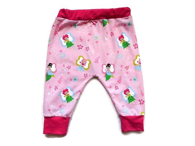 9efa48da4a995 Sarouel Biologique Bébé Fille 12 Mois Fées Rose Clair Jersey Coton Pantalon  Bébé Fille